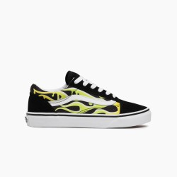 VANS OLD SKOOL SLIME FLAME/ BLACK/ TRUE WHITE VN0A4UHZ31M1