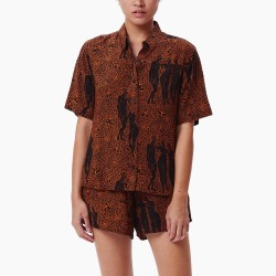 TEXTIL MUJER OBEY CAMISA FREE BIRDS BLK MUL SS21